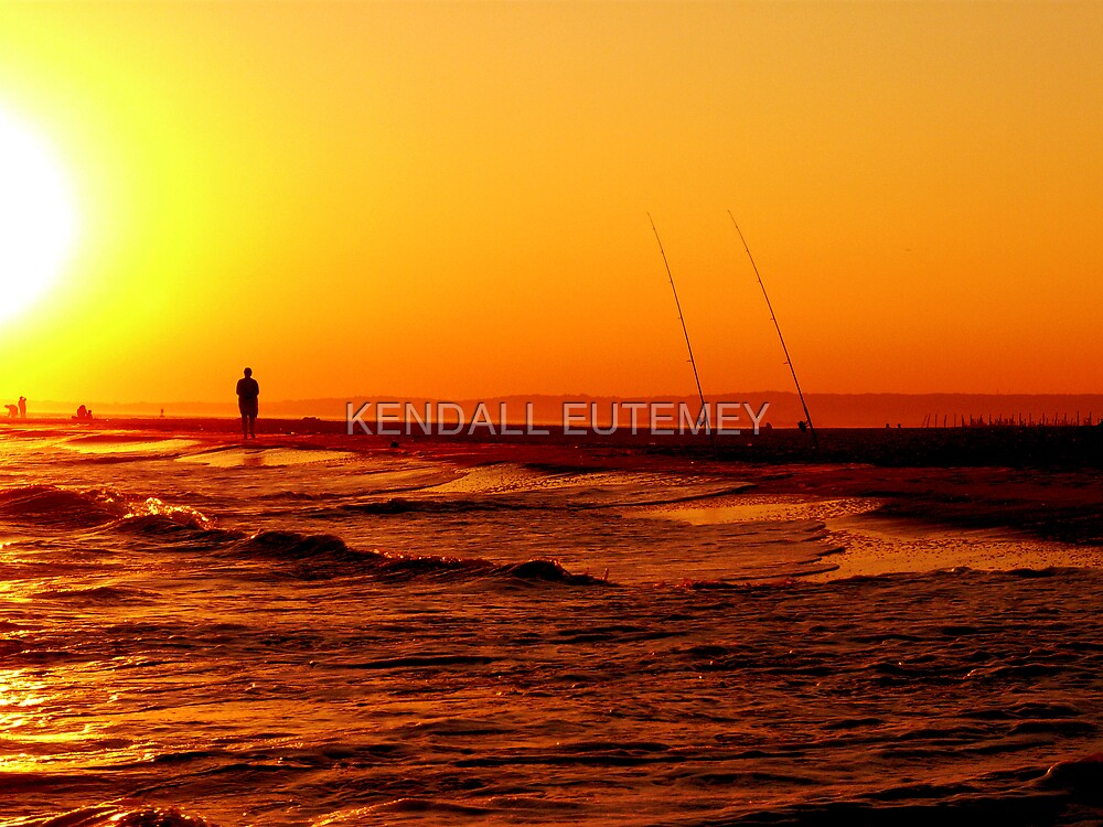 LONESOME FISHERMAN by KENDALL EUTEMEY