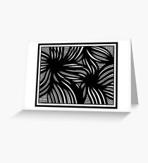 Hench Abstract Expression Black and White Greeting Card