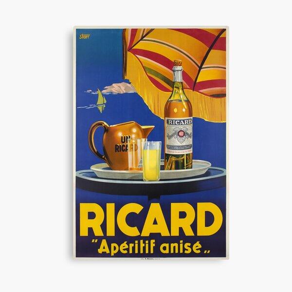 Ricard -Apéritif anisé, Advertisement Poster Canvas Print
