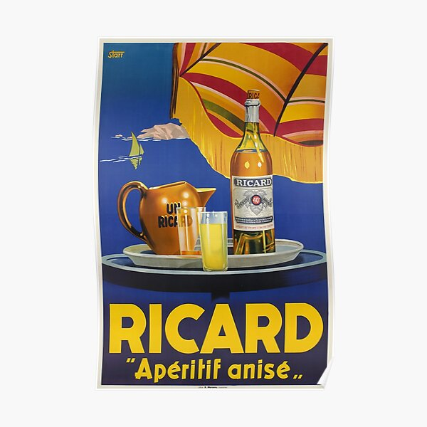 Ricard -Apéritif anisé, Advertisement Poster Poster