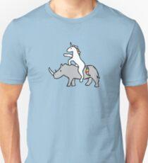 Einhorn Reit Rhino Unisex T-Shirt