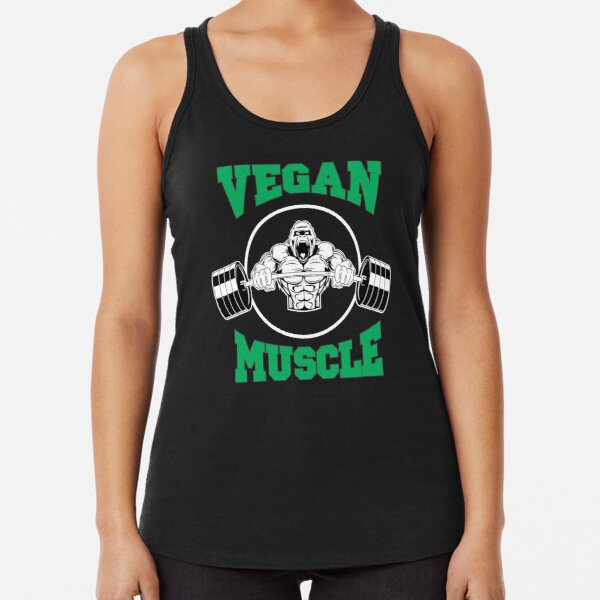 Vegan Muscle Gym Racerback Tank Top