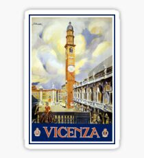 Vintage Vicenza Italy Travel Sticker