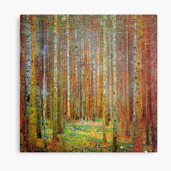 TANNEWALD: Gustav Klimt Landscape Painting Print Metal Print