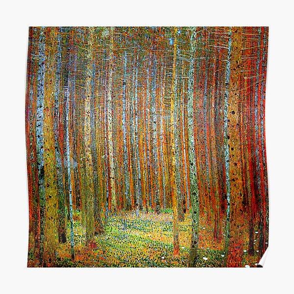 TANNEWALD: Gustav Klimt paysage peinture impression Poster