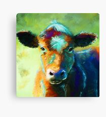 Colourful Calf Painting Canvas Print