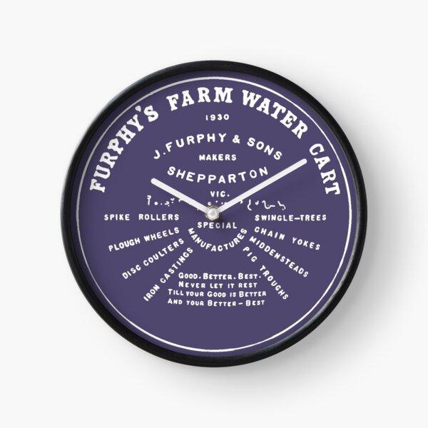 Furphy Water Tank - white Clock