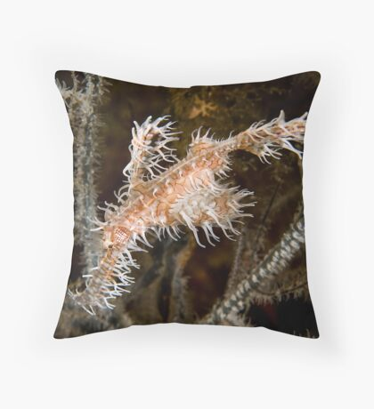 Ornate Ghost Pipefish Throw Pillow