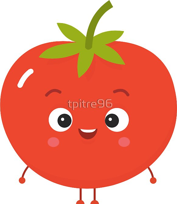 Quot Cute Tomato Quot Stickers By Tpitre96 Redbubble