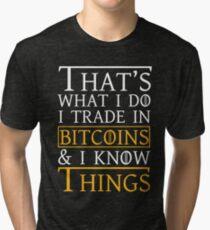 Thats What I Do Bitcoin Tri-blend T-Shirt