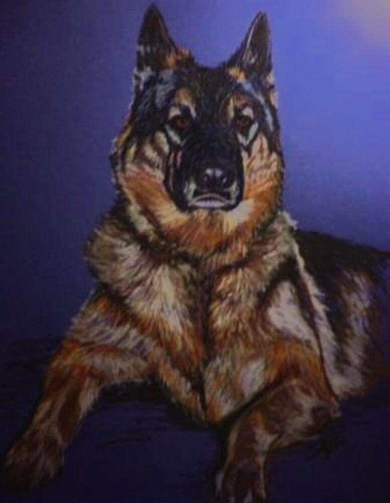 Nala~Portrait Of A German Shepard by Susan McKenzie Bergstrom
