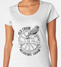 Medicine Show Wagon Wheel With Old Crow  Women's Premium T-Shirt