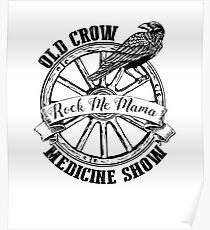Medicine Show Wagon Wheel With Old Crow  Poster