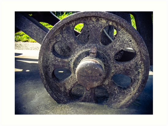Old Cannon Wheel by Michael McGimpsey