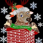 Reindeer down the chimney  (2623 Views) by aldona