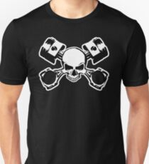 Skull and Crossed Pistons Unisex T-Shirt