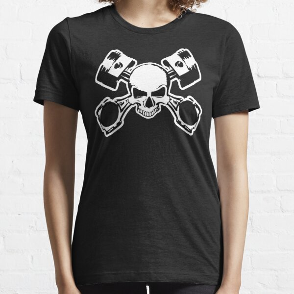 Skull and Crossed Pistons Essential T-Shirt
