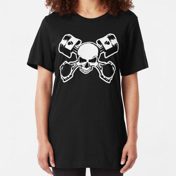Skull and Crossed Pistons Slim Fit T-Shirt
