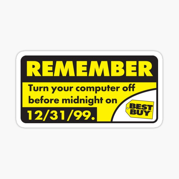 Y2K Best Buy Warning Sticker Sticker