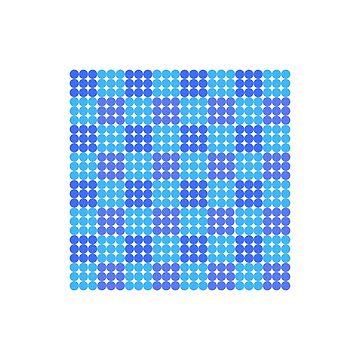 Blue Dots Minimalist Trendy Art Pattern by PopularGifts