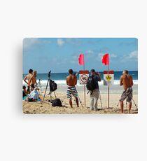 Surf contest photography Canvas Print