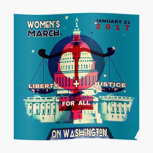 Women's MARCH on Washington Poster