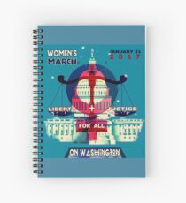 Women's MARCH on Washington Spiral Notebook
