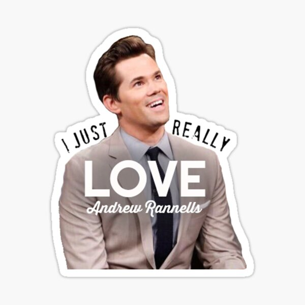 I just really love Andrew Rannells Sticker