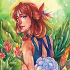 Watercolor: Untitled (Julia) by delicatesketch