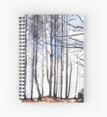 The colour of Winter is in the imagination Spiral Notebook
