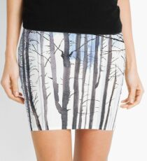 The colour of Winter is in the imagination Mini Skirt