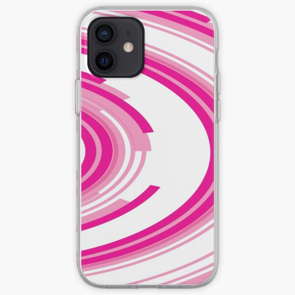 Red Semicircle Abstract Art iPhone Soft Case