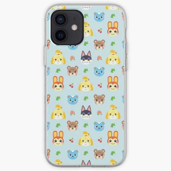 Animal Crossing Pattern - Blue iPhone Soft Case