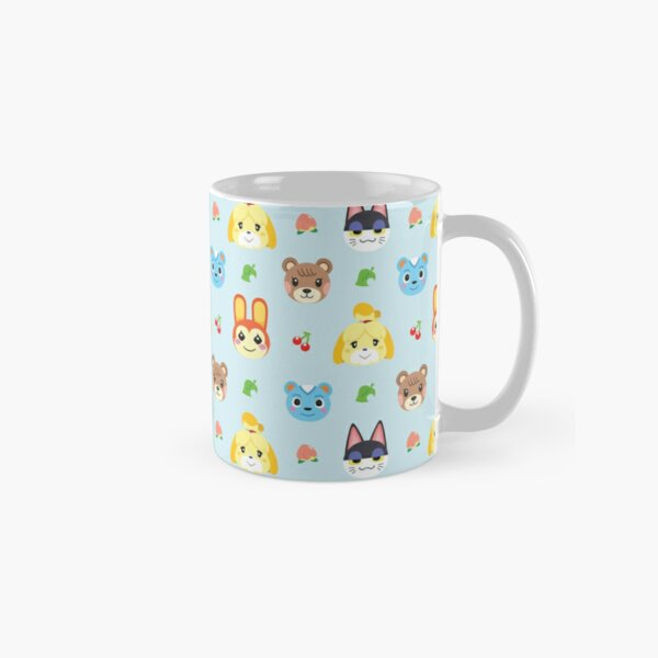 Animal Crossing Pattern - Blue Classic Mug