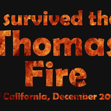 I Survived the Thomas Fire by Thogek