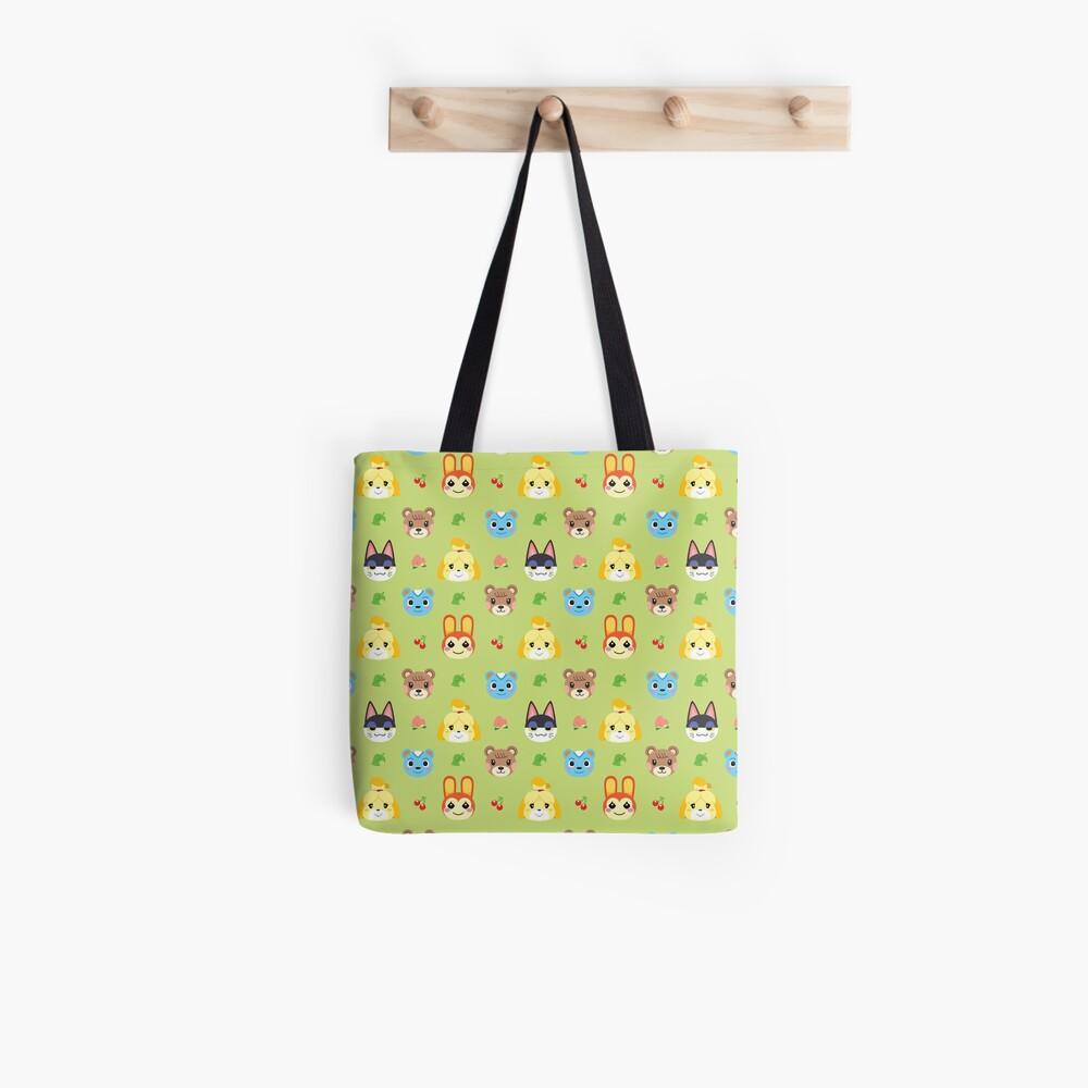 Tierkreuzungsmuster - Grün Tote Bag