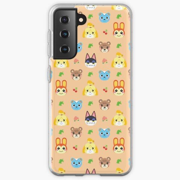 Animal Crossing Pattern - Peach Samsung Galaxy Soft Case