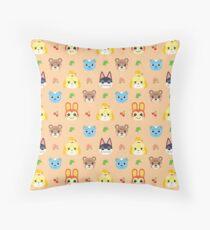 Animal Crossing Pattern - Peach Throw Pillow