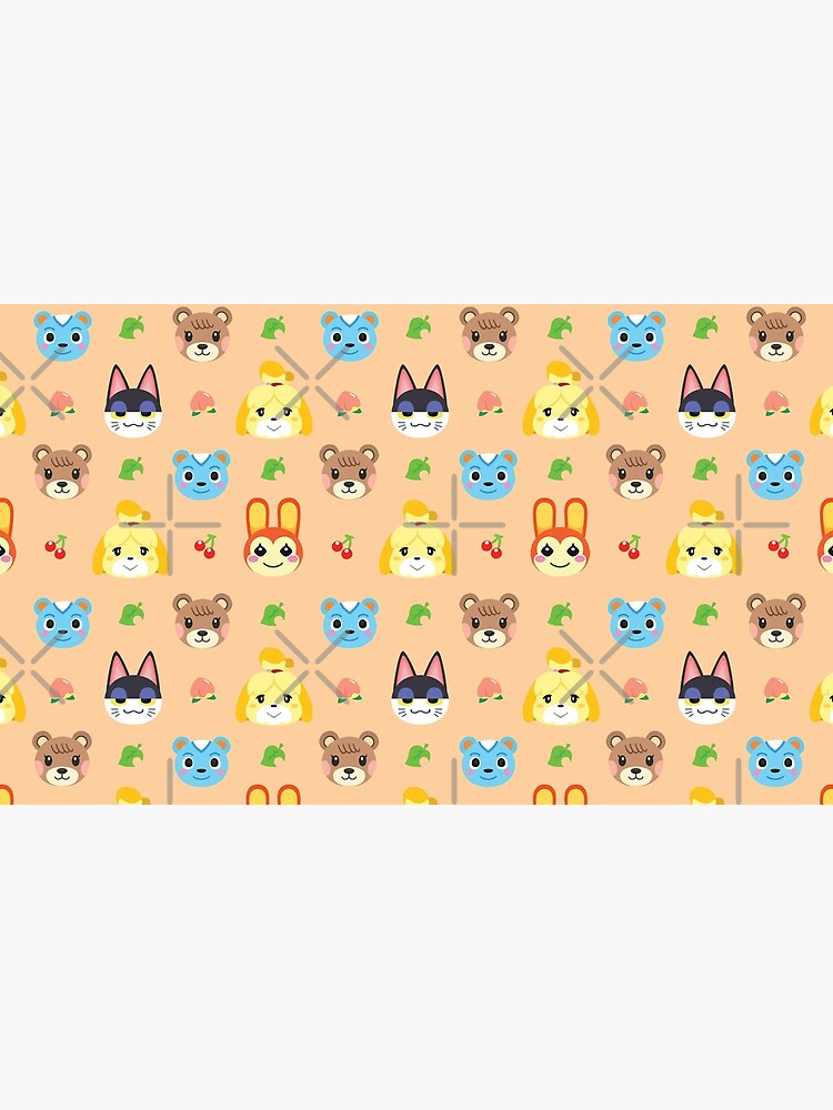 Animal Crossing Pattern - Peach by CactusCatArt