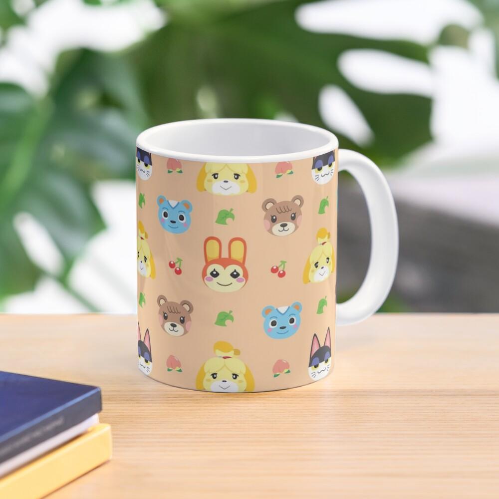 Animal Crossing Pattern - Peach Mug