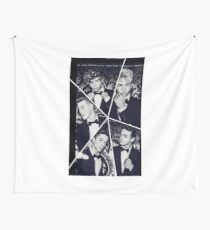 Black and White Why Don't We Collage Wall Tapestry