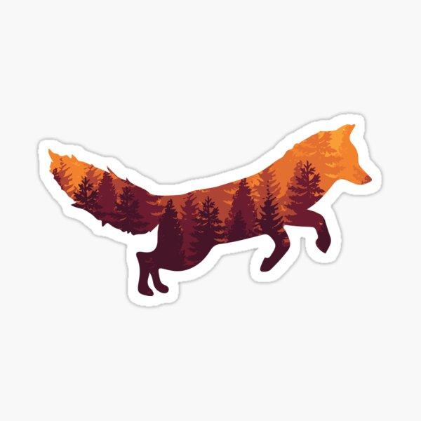 voici le renard! Sticker