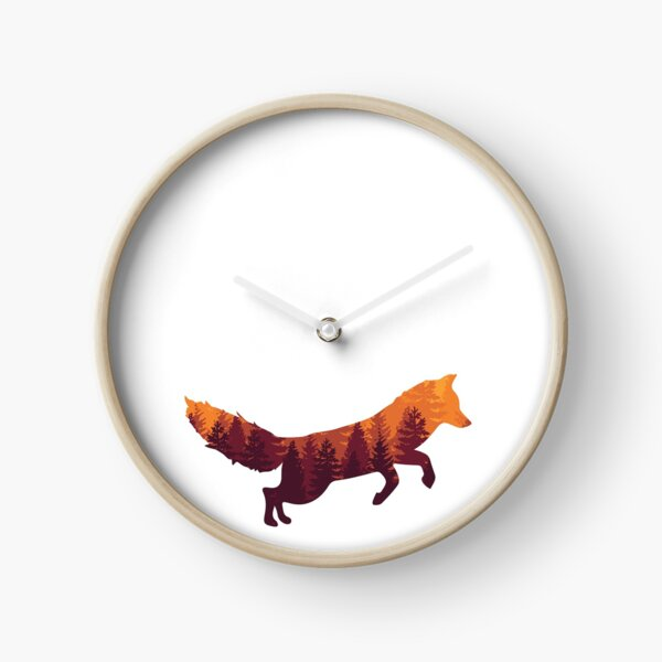 Forest Fox Clock