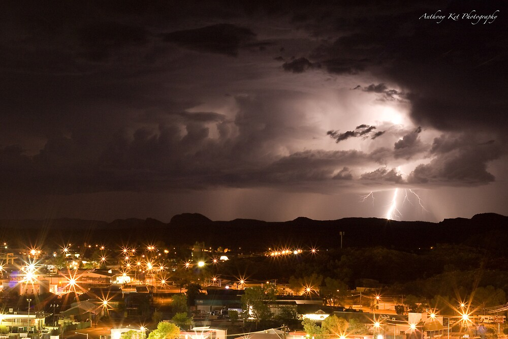 Alice Springs, Lighting Strikes by Anthony  Ket