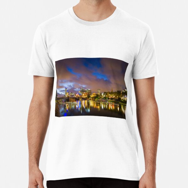 The Yarra at night Premium T-Shirt