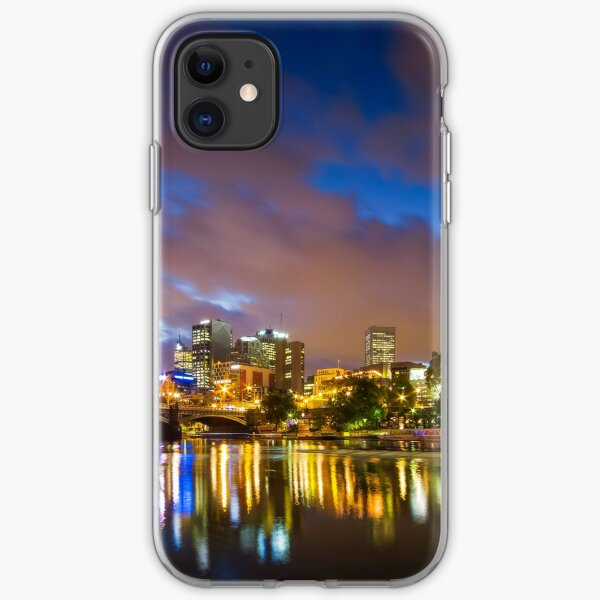 The Yarra at night iPhone Soft Case