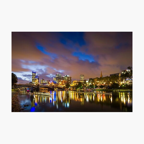 The Yarra at night Photographic Print