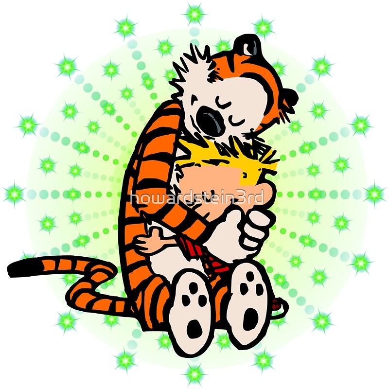 Pegatinas «Calvin Hobbes Abrazo» de howardstein3rd | Redbubble