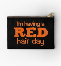 im having a red hair day Studio Pouch