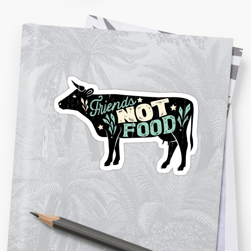 Friends not food vegan vegetarian animal lovers t shirt vintage distressed by liquegifts